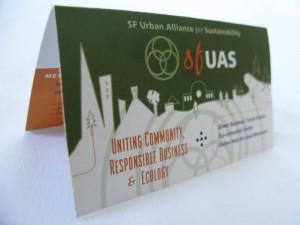 NGO non-profit business card brochure print graphic design San Rafael Marin San Francisco